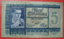 5 Schilling 1.7.1927 (WPM 93) - Austria