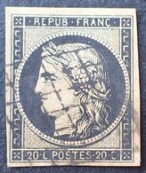 DF40266/21 - CERES N°3 - GRILLE NOIRE - Cote : 65,00 € - 1849-1850 Ceres