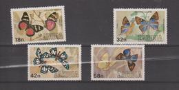 Zambie 1980 Papillons Série 217-20 4 Val ** MNH - Zambie (1965-...)