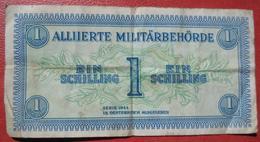 1 Schilling 1944 (WPM 103a) / Alliierte Militärbehörde Watermark / Wasserzeichen: Military Authority? - Austria