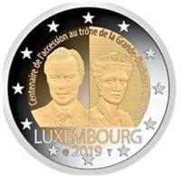 Luxemburg  2019  2 Euro Comm. 100 Ste Verj Van De Troonsbestijging Van Grand Duchesse Charlotte UNC Uit De Rol !!!! - Luxemburg