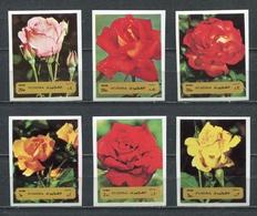 Fujeira  1972 Mi # 1251 B - 1256 B  FLORA ROSE FLOWERS MNH - Fujeira