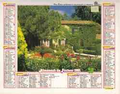 °° Calendrier Almanach La Poste 1991 Oller - Dépt 05 - Maison Verdure Et Fleurs - Calendriers
