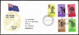 1974 - NEW ZEALAND - FDC + SG 1041/1045 + PAIHIA - FDC
