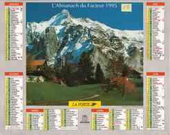 °° Calendrier Almanach La Poste 1995 Oberthur - Dépt 05 - Paysages De Montagne - Grand Format : 1991-00