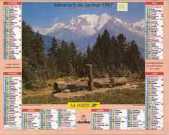 °° Calendrier Almanach La Poste 1997 Oberthur - Dépt 05 - Paysages Hérault Et Mont Blanc - Calendriers