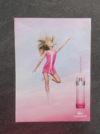 Publicité Papier Parfum - Perfume Ad : LACOSTE Touch Of Pink France 2004 - Advertisings (gazettes)