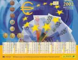 °° Calendrier Almanach La Poste 2002 Lavigne - Dépt 01 - L'Euro - Groot Formaat: 2001-...