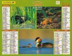°° Calendrier Almanach La Poste 2002 Lavigne - Dépt 05 - Animaux Des Bois - Calendars