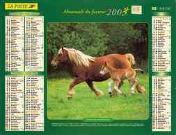 °° Calendrier Almanach La Poste 2003 Lavigne - Dépt 05 - Chevaux - Groot Formaat: 2001-...