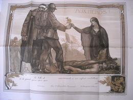 Authentique Diplôme Remis Aux Combattants Par Leur Commune 14/18 - 1914-18