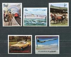 Fujeira  1972 Mi # 1289 B - 1293 B AIRPLANES TRAIN TRANSPORT MNH - Fujeira