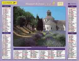 °° Calendrier Almanach La Poste 2003 Lavigne - Dépt 11 - Sénanque Et Lourmarin Dans Le Vaucluse - Kalenders