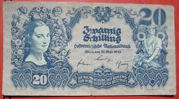 20 Schilling 29.5.1945 (WPM 116) - Austria