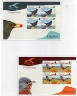 ALDERNEY 2007 FAUNA AVICOLA RESIDENT BIRDS PASSERINES UCCELLI RESIDENTI BLOCK SHEETS FULL SET SERIE FOGLIETTI MNH - Alderney