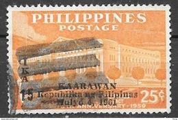 1961 25c Anniversary Republic Overprint, Used - Philippines