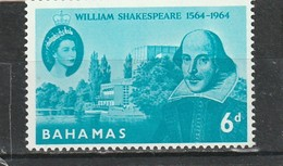 Bahamas Neuf ** 1964 N° 190 4e Centenaire De La Naissance De Shakespeare - Bahamas (1973-...)