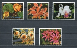 Fujeira  1972 Mi # 1332 A - 1336 A FLORA FLOWERS MNH - Fujeira