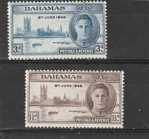 Bahamas Neuf * 1946 N° 119/120   Anniversaire De La Victoire - Bahamas (1973-...)