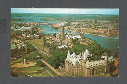 OTTAWA - ONTARIO - CANADA'S CAPITOL OTTAWA RIVER CHATEAU LAURIER PARLIAMENT BUILDINGS - PHOTO H.R. OAKMAN - Ottawa