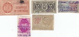 12608-LOTTICINO N°. 5 MARCHE DA BOLLO FRANCIA - Fiscali