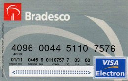 MEC.62 / BRASIL -  CREDIT CARD / BANK BRADESCO  / VISA ELECTRON - Cartes De Crédit (expiration Min. 10 Ans)