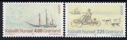 GROENLAND  GREENLAND EUROPA CEPT 1994 BATEAUX SHIPS TRAINEAU SLEIGH DOG CHIENS ARTIQUE ARTIC DECOUVERTES DISCOVERIES - Groenland