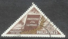 1960 Constitution, 6 Cents, Used - Philippines