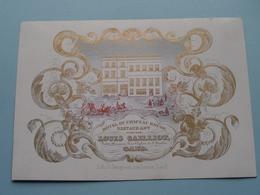 Hôtel Du CHAPEAU ROUGE ( Louis CAILLIOT ) à GAND ( Porcelein Porcelaine Porzellan Porcelana > Zie / Voir Photo ) ! - Visitenkarten