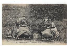 10 - NOS DOUANIERS A LA FRONTIERE  En Embuscade- E.C.1919 - Douane