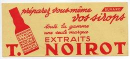 - BUVARD EXTRAITS T. NOIROT - Préparez Vous-même Vos Sirops - - Carte Assorbenti