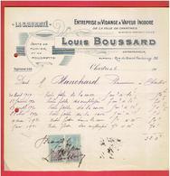 FACTURE 1921 VIDANGE A VAPEUR LOUIS BOUSSARD 32 RUE DU GRAND FAUBOURG A CHARTRES EURE ET LOIR LA SALUBRITE - France