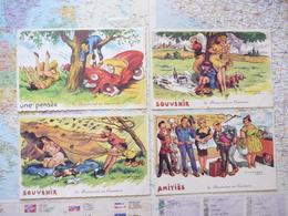 De Brancourt En Laonnois 4 Cartes Illustrateur J.Chaperon éditions G.Picard - Chaperon, Jean