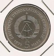 German Allemagne Alemanha 5 Mark, 1971. Brandenburg Gate 128 - 5 Mark