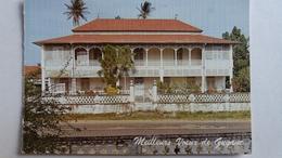 PARTIE DE CARTE DOUBLE MEILLEURS VOEUX DE GUYANE MAISON COLONIALE NON SITUEE - Guyane