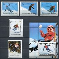 Fujeira  1972 Mi # 1338 A - 1342 A + BLOCK 136 A SPORT WINTER OLYMPIC GAMES MNH - Fujeira
