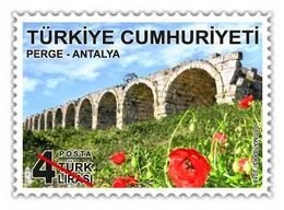 AC - TURKEY STAMP - ANTALYA THEMED DEFINITIVE POSTAGE STAMPS MNH 22MAY2018 - 1921-... République
