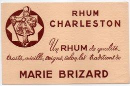 - BUVARD RHUM CHARLESTON - MARIE BRIZARD - - Liqueur & Bière