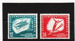 YZO133 DDR 1951 MICHL 280/81 ** Postfrisch ZÄHNUNG SIEHE ABBILDUNG - DDR