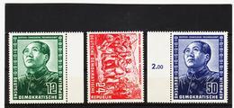 YZO134 DDR 1951 MICHL 286/88 ** Postfrisch ZÄHNUNG SIEHE ABBILDUNG - DDR