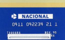MEC.62 / BRASIL -  CREDIT CARD / BANK NACIONAL  / BANCOMATE - Cartes De Crédit (expiration Min. 10 Ans)