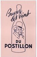 - BUVARD Buvez Les Vins DU POSTILLON - - P