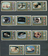 Fujeira  1972 Mi # 1344 A - 1354 A SPACE APOLLO MAN ON THE MOON MNH - Fujeira
