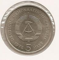 German Allemagne Alemanha 5 Mark, 1972 City Of Meissen 130 UNC - 5 Mark