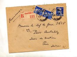 Lettre Recommandee Chartres Sur Gandon - Postmark Collection (Covers)