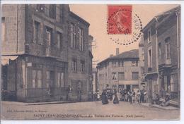 42 - CPA - SAINT- JEAN- BONNEFONDS - Le Bureau Des Voitures  ( Café Jamot ) - Other Municipalities
