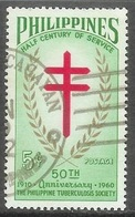 1960 Tuberculosis Society, 5 Cents, Used - Philippines