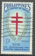 1960 Tuberculosis Society, 6 Cents, Used - Philippines