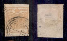 Antichi Stati Italiani - Lombardo Veneto - 1850 - 5 Cent (1e - Ocra Arancio) Usato A Monselice - Cert AG (900) - Stamps