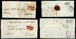 Antichi Stati Italiani - Lombardo Veneto - Lendinara (P.ti 6) - Due Letterine D'archivio Per Padova Del 1851 (16/2 - 6/7 - Unclassified